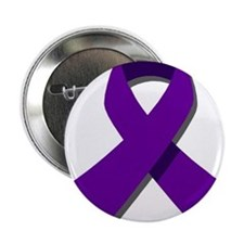 "Purple Ribbon 2.25"" Button"