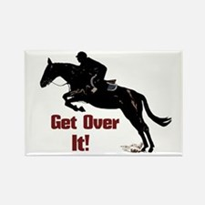 Get Over It! Horse Jumper Rectangle Magnet