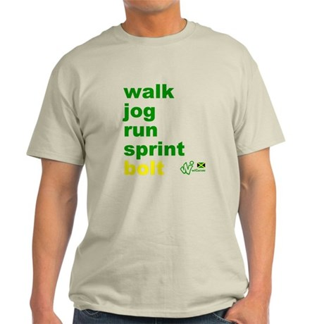 Walk. Jog. Run. Sprint. Bolt. T-Shirt