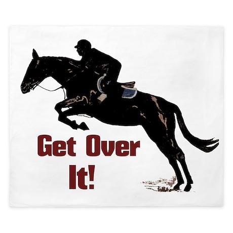 Get Over It! Horse Jumper King Duvet