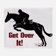 Get Over It! Horse Jumper Throw Blanket