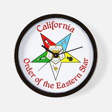 California Eastern Star Wall Clock