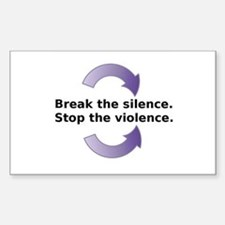 Break the silence Sticker (Rectangle)