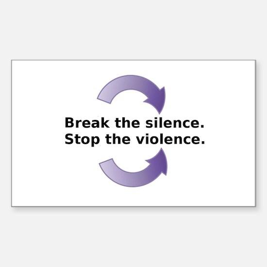 Break the silence Sticker (Rectangle)