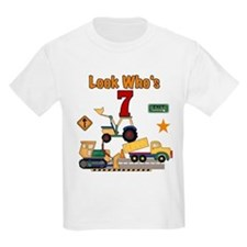 Construction 7th Birthday Kids T-Shirt
