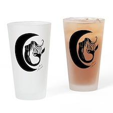 Moon Mermaid Logo Drinking Glass
