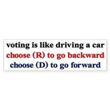 Democrat Voting/Driving Bumper Sticker