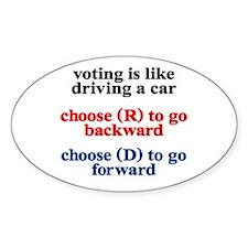 Democrat Voting/Driving Decal