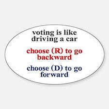 Democrat Voting/Driving Sticker (Oval)