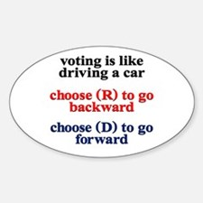 Democrat Voting/Driving Stickers
