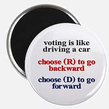 "Democrat Voting/Driving 2.25"" Magnet (10 pack)"