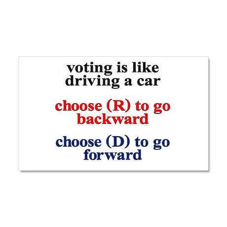 Democrat Voting/Driving Car Magnet 20 x 12