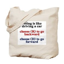 Democrat Voting/Driving Tote Bag