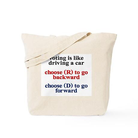 Democrat Voting/Driving Tote Bag