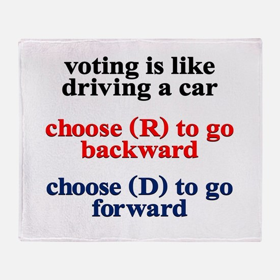 Democrat Voting/Driving Throw Blanket