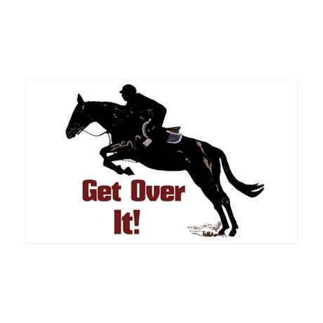 Get Over It! Horse Jumper 35x21 Wall Decal