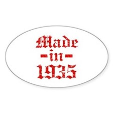 Made In 1935 Decal
