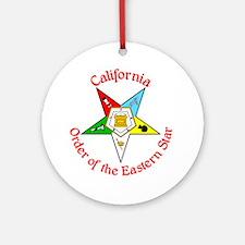 California Eastern Star Ornament (Round)