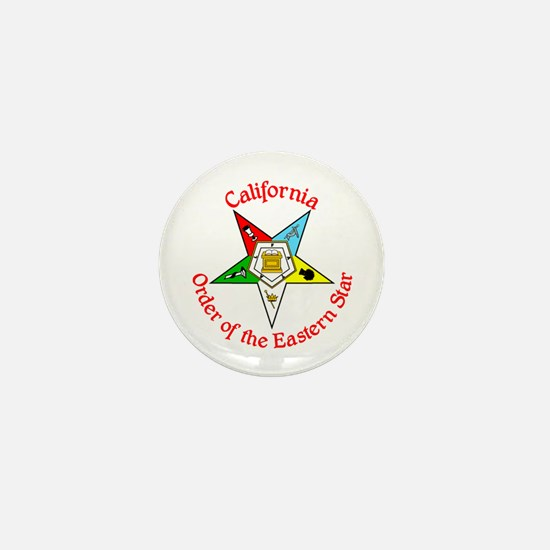 California Eastern Star Mini Button