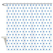 Blue Polka Dot Shower Curtain