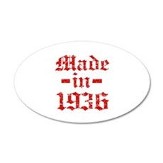 Made In 1936 35x21 Oval Wall Decal