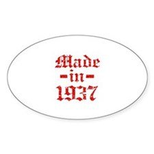 Made In 1937 Decal