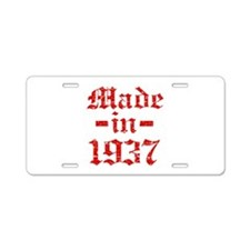 Made In 1937 Aluminum License Plate