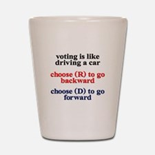 Democrat Voting/Driving Shot Glass