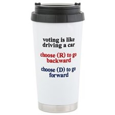Democrat Voting/Driving Travel Coffee Mug