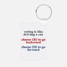 Democrat Voting/Driving Keychains