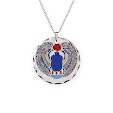 Tutankhamons Glyph Necklace Circle Charm