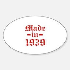 Made In 1939 Sticker (Oval)