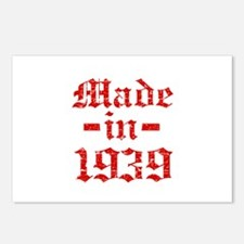 Made In 1939 Postcards (Package of 8)