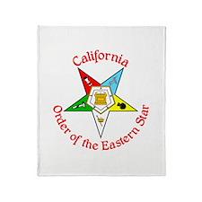 California Eastern Star Throw Blanket