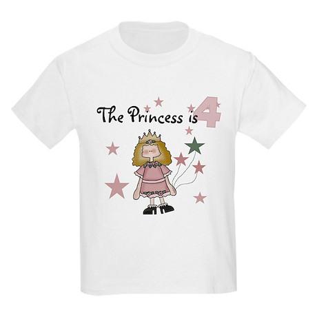 Princess 4th Birthday Kids T-Shirt