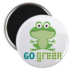 Go Green Frog Magnet
