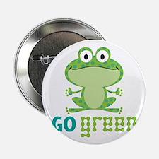 """Go Green Frog 2.25"""" Button"""