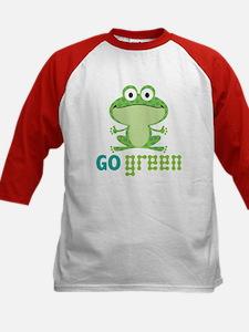 Go Green Frog Kids Baseball Jersey