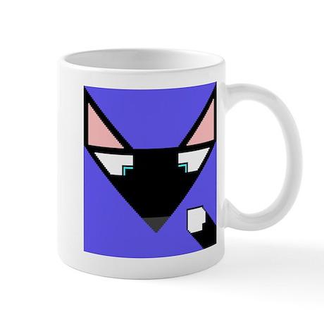 Cubist Black Fox Head and Tail Mug