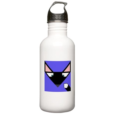 Cubist Black Fox Head and Tail Stainless Water Bot