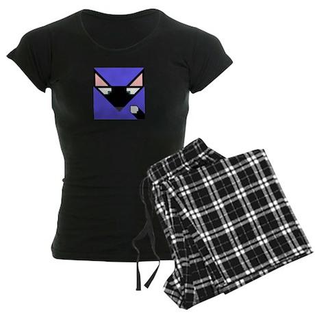 Cubist Black Fox Head and Tail Women's Dark Pajama