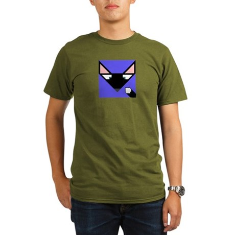 Cubist Black Fox Head and Tail Organic Men's T-Shi