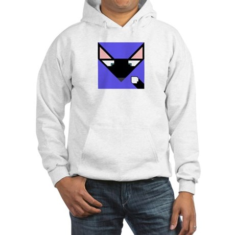Cubist Black Fox Head and Tail Hooded Sweatshirt