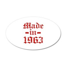 Made In 1963 Wall Decal