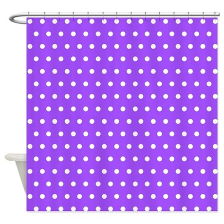 Purple Polka Dot Shower Curtain By Creativeconceptz