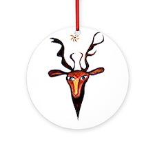Elen Deer Goddess Ornament (Round)