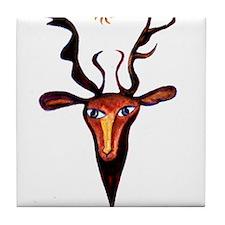 Elen Deer Goddess Tile Coaster