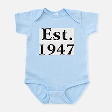 Est. 1947 Infant Creeper