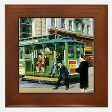 Vintage San Francisco Cable Car Framed Tile