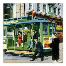 Vintage San Francisco Cable Car Square Car Magnet